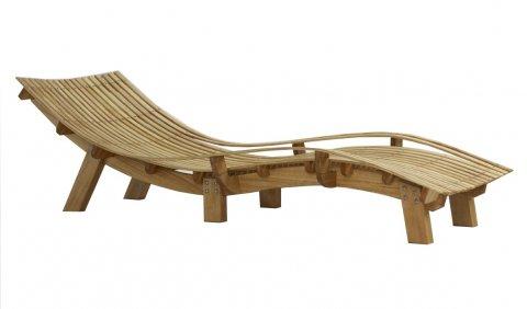 Chaise bain de soleil en pin trait e au saturareur - Chaises bain de soleil ...