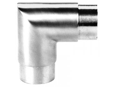 Coude 90° angle vif pour main courante inox