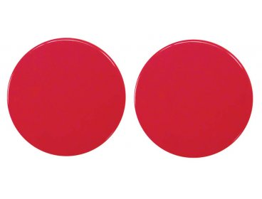 Paire rosaces nylon rouge Ø 52 mm borgne