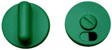 Paire rosaces nylon vert Ø 52 mm à condamnation