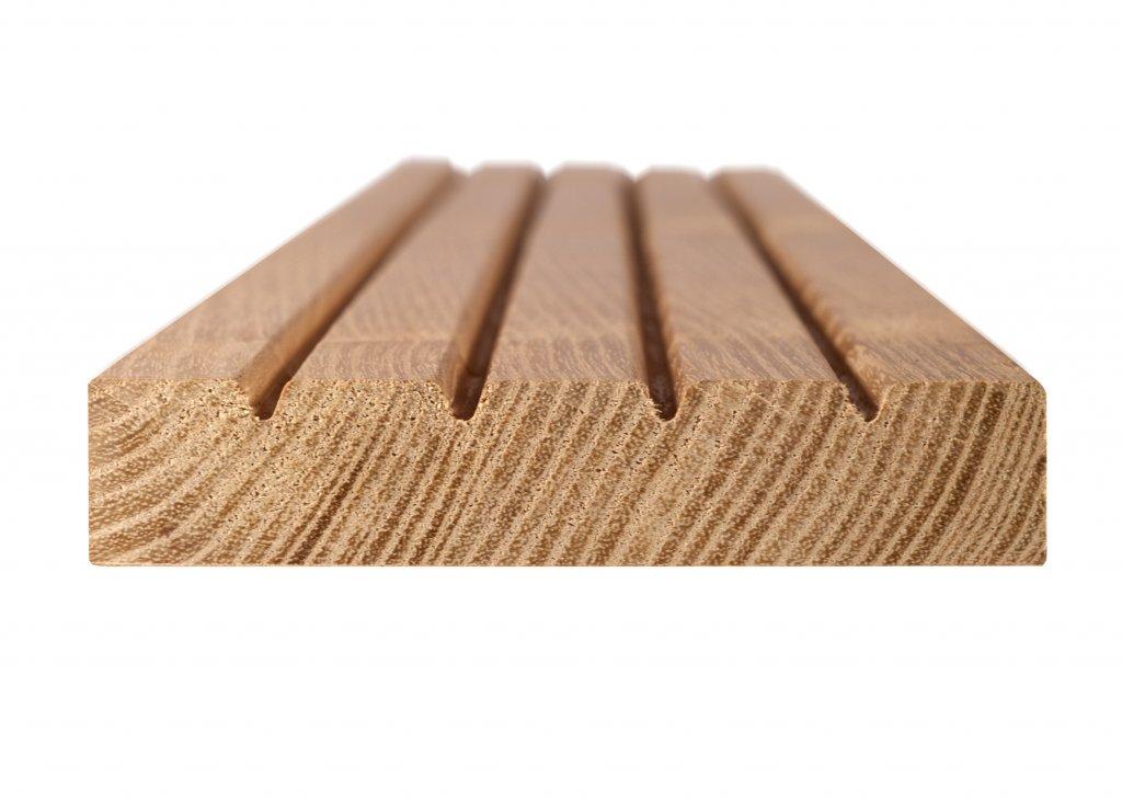 lame de terrasse 110*22 mm robinier (acacia) rainurées - déjeuner au